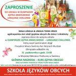 Mała Lingua & Lingua Teens Space/Zaproszenie