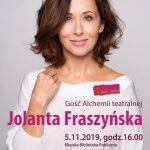5.11.2019 | Spotkanie z Jolantą Fraszyńską