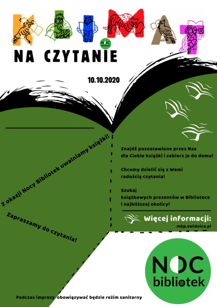 Plakat informacyjny dotyczący akcji uwalniania książek