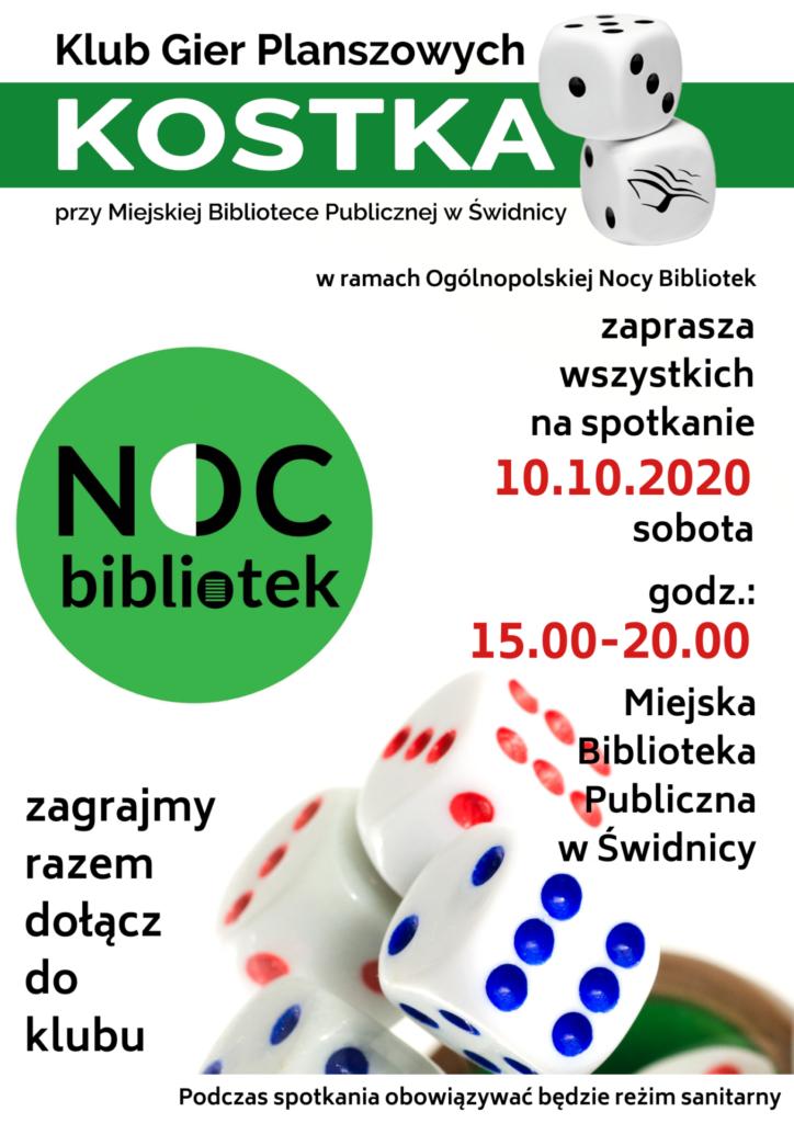 Plakat dotyczący spotkania klubu kostka