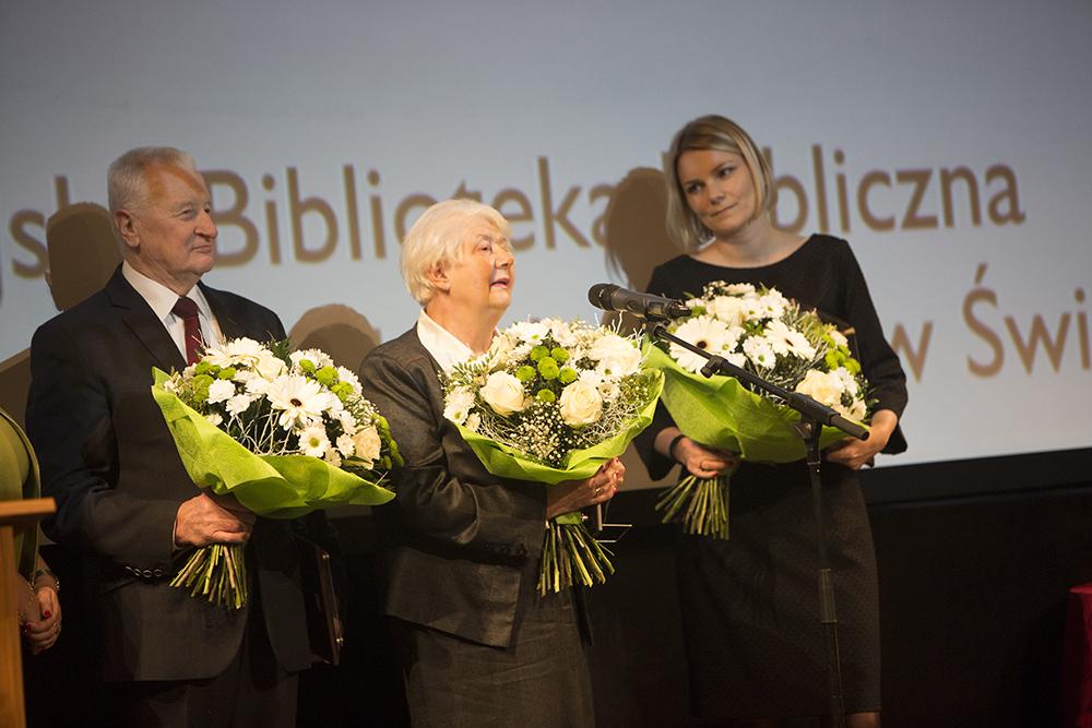 Na zdjęciu: Adam Markiewicz, Krystyna Bartela, Adriana Miara