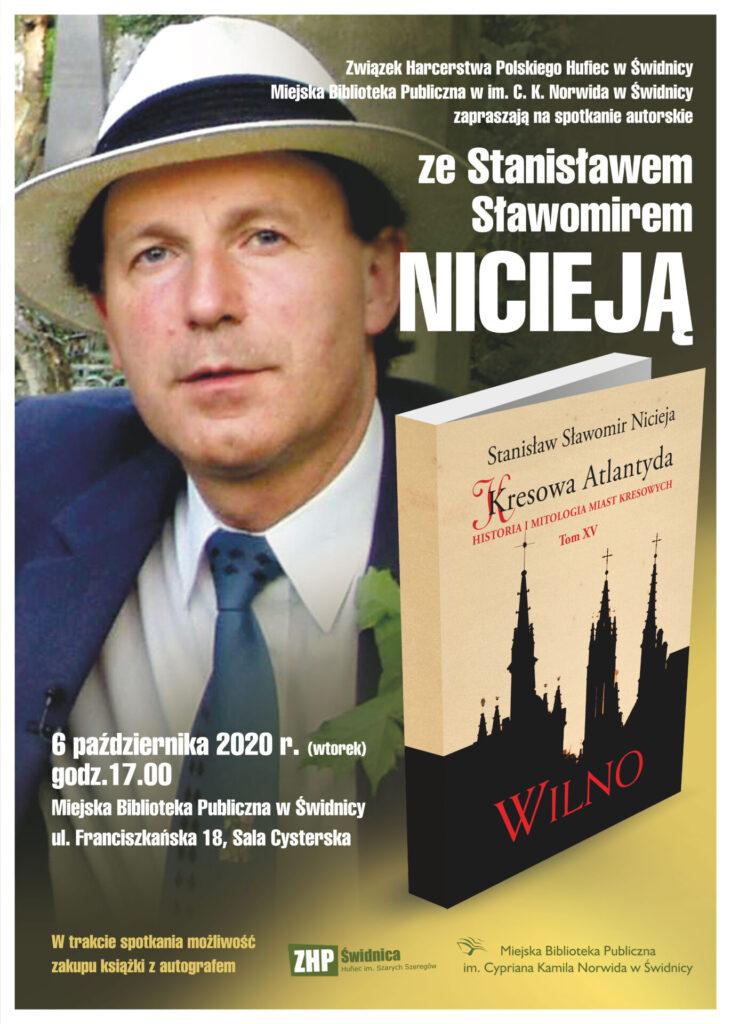 Plakat spotkania: Nicieja Sławomir 6 października 2020, godzina 17.00