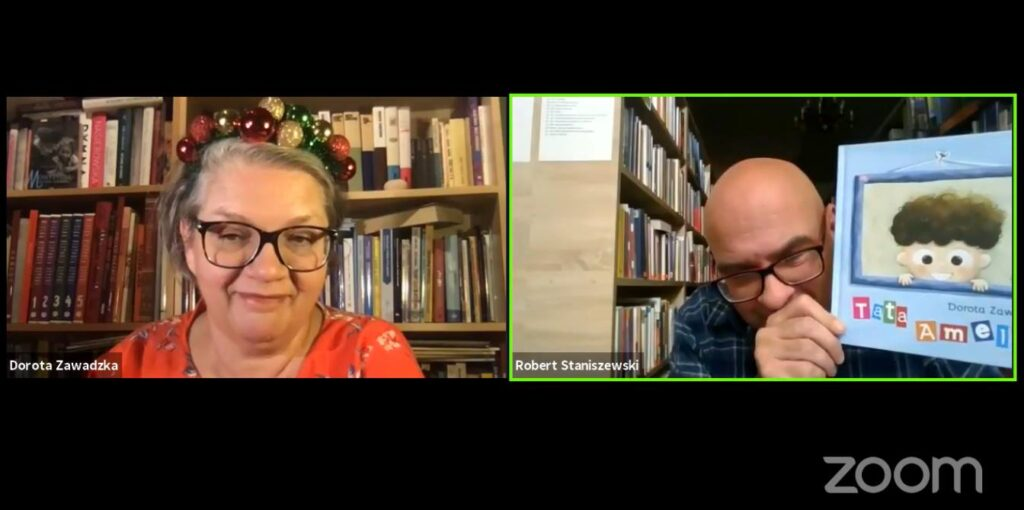 Spotkanie online z Dorotą Zawadzką, prowadził Robert Staniszewski