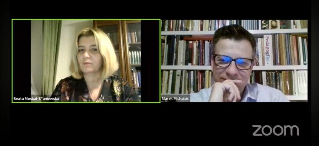 spotkanie online Marek Michalak, Beata Moskal-Słaniewska