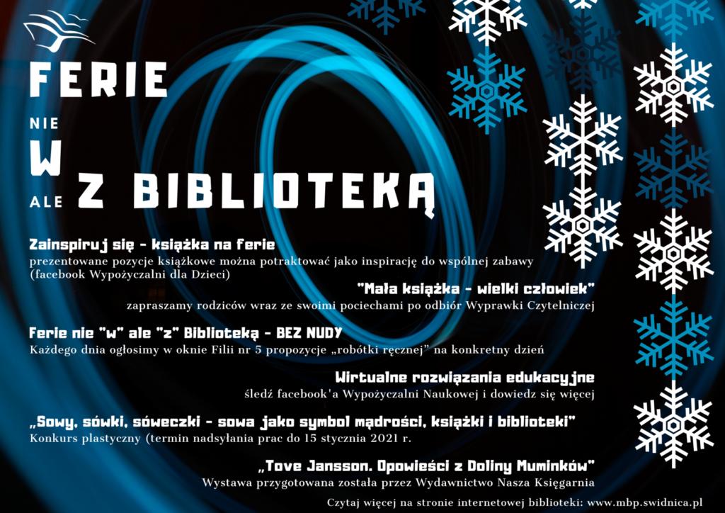 Ferie z biblioteką - plakat