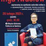 Spotkanie autorskie z Ingą Iwasiów – zaproszenie