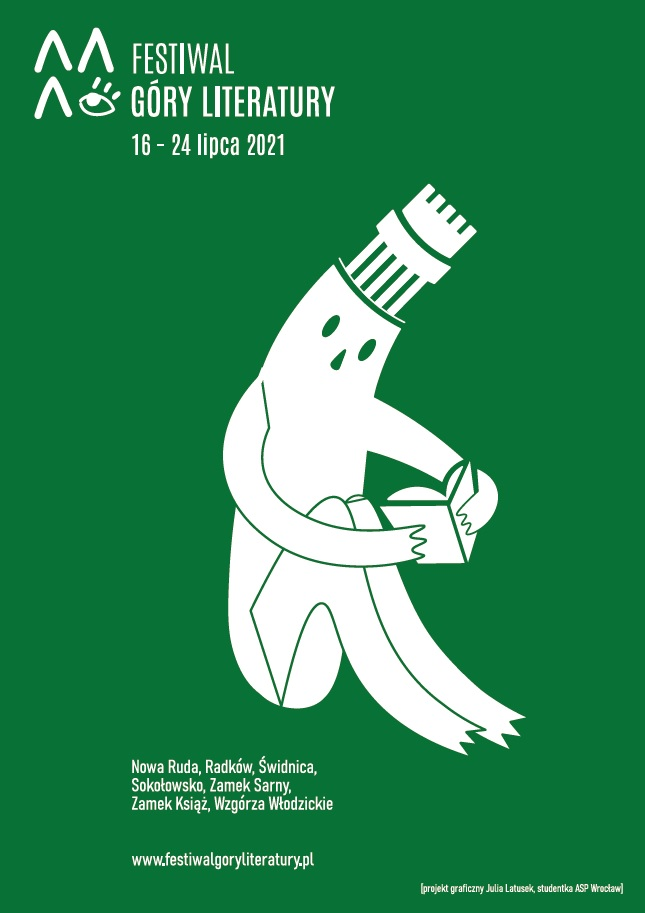 Zielony plakat - Festiwal Góry Literatury: 16-24 lipca 2021