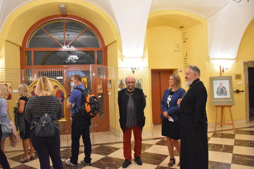 wernisaż wystawy prac powstałych na XIV Warsztatach Malowania Ikon pod kierunkiem Michała Boguckiego