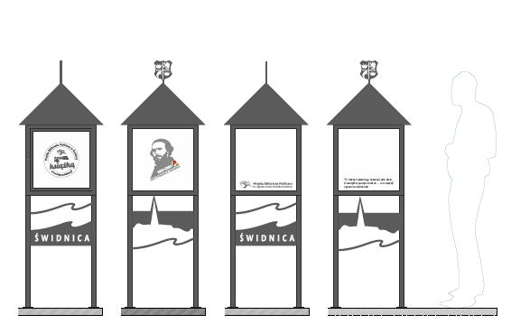 Wizualizacja budki z Norwidem