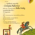Spotkanie autorskie z Grażyną Bąkiewicz – zaproszenie