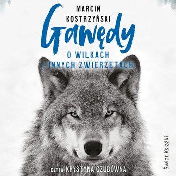 okładka książki tytuł gawędy o wilkach i innych zwierzętach autor marcin kostrzyński